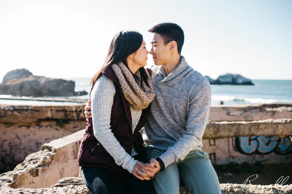 San Francisco Engagement Photography- Sutro Baths- Lands End Wedding Photos- Ranalla Photo & Films