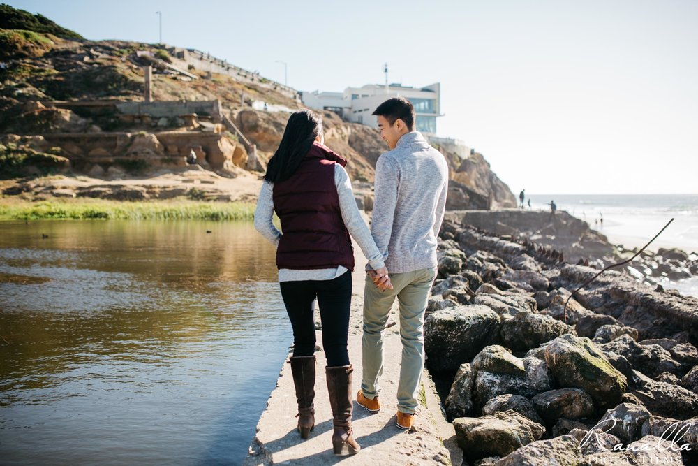 San Francisco Engagement Photography- Sutro Baths- San Francisco Coast- Cliff House- Lands End Wedding Photos- Ranalla Photo & Films