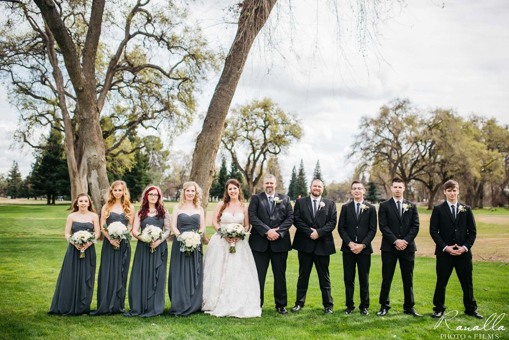 Chico Wedding Photography- Wedding Party- Grey Bridesmaid Dresses- Butte Creek Country Club- Simply Elegant Bridal- Ranalla Photo & Films