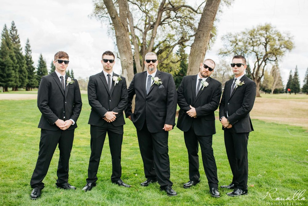Chico Wedding Photography- Groomsmen- Butte Creek Country Club- Ranalla Photo & Films