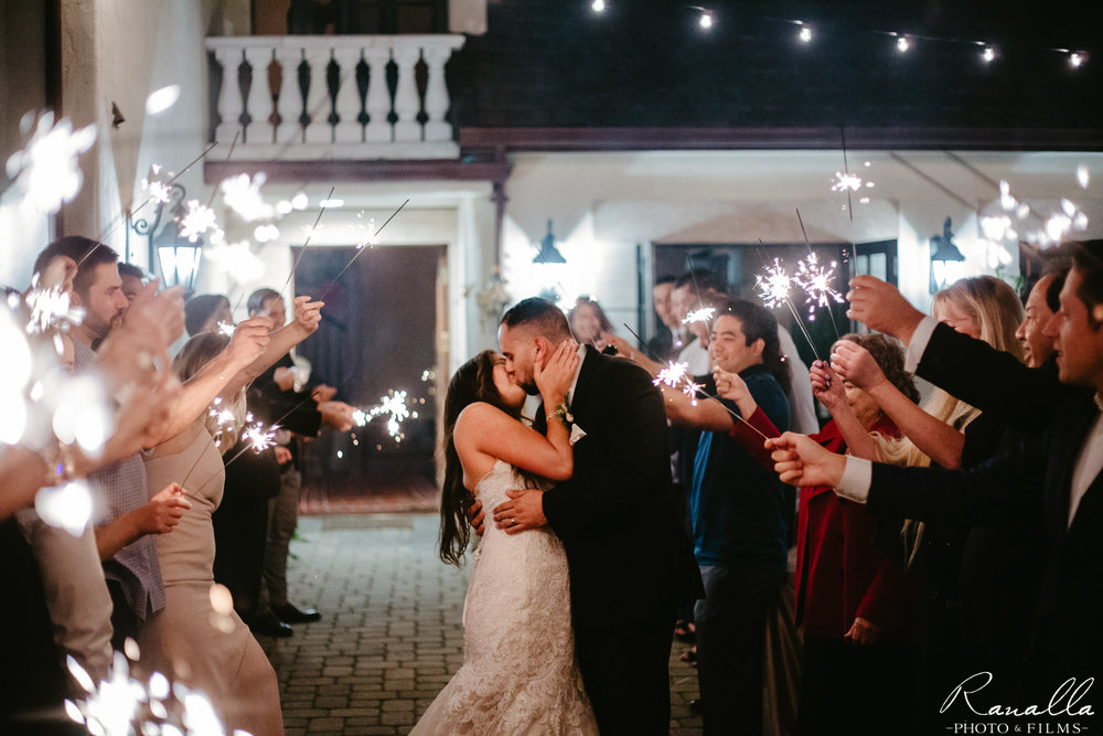 Chico Wedding Photography, Sparkler Exit Wedding Photo