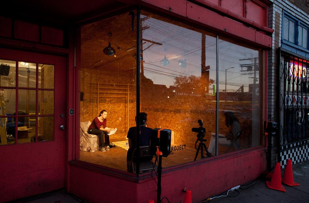 "Sasha Bergstrom-Katz & Sam Kahn, Conversations: ""Avocado Shaker,"" Machine Project, 2014"