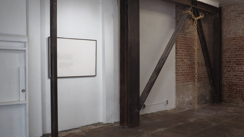 Hanging Chain, 2017; Ceramic; 10 feet high