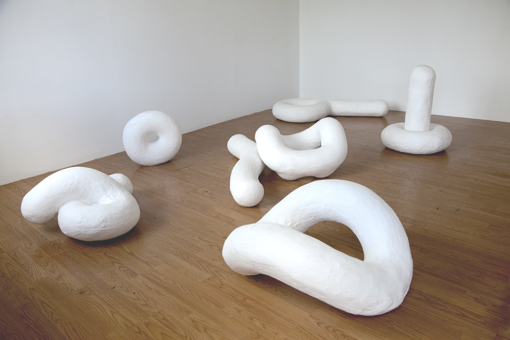 7 Stages , 2017; Plaster; Installation view: AWHRHWAR, Los Angeles, California