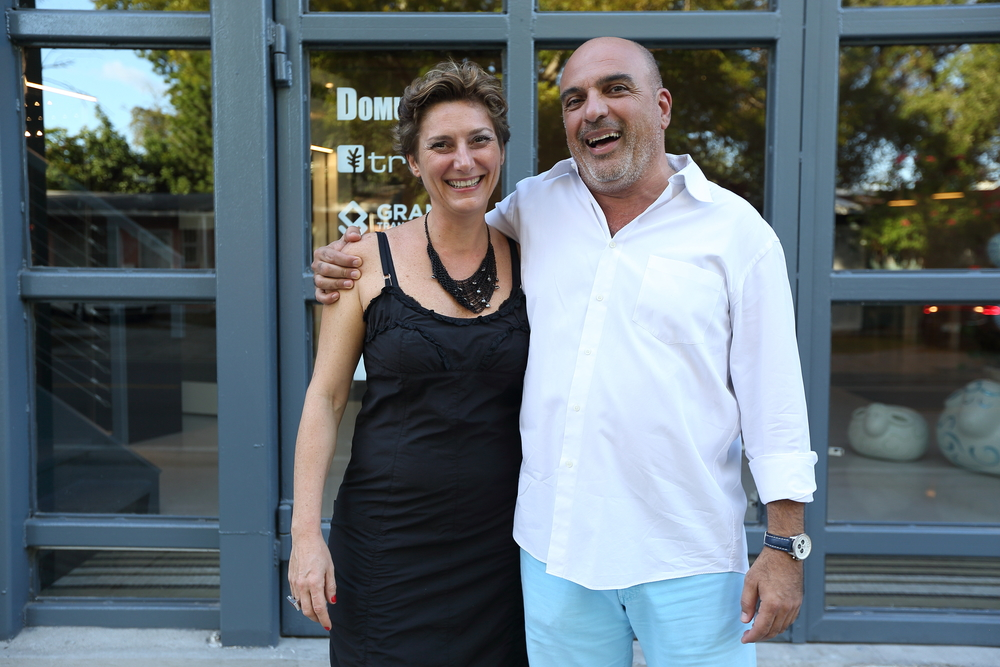 Elena Girardello and Miami Ironside Founder Ofer Mizrahi