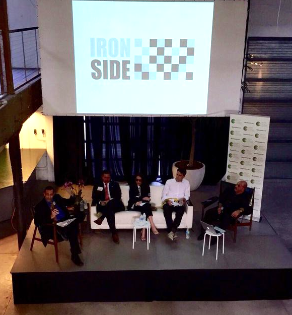 Panelist (L-R), Moderator Doug Bartel (GMCC Creative Industries Chair), Peiter A. Bockweg (Miami Omni and Midtown Community Redevelopment), Sam Robin (Robicara Design), Rob Lloyd (Arquitectonica), MIS founder Ofer Mizrahi