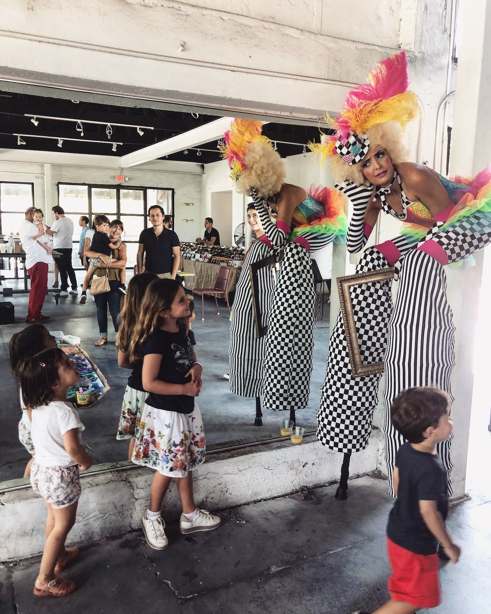 """Featured talent - Fifi The Clown""""Fifi the Clown loves to entertain adults and especially Kids. Her antics leave everyone with a big smile on their face and warmness in their hearts.""""Soraya, stilt-walkerClick HERE to meet the artist📧To apply for #IronsideTalents please email: info@miamiironside.com"""