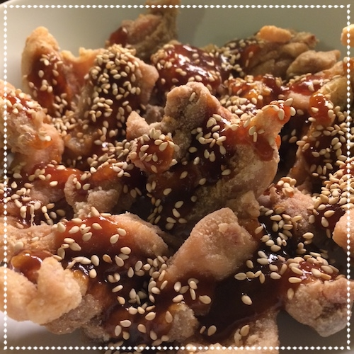 Crisp Chicken with Ginger, Lime and Sesame - January 2016