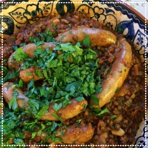 Sausages With Lentils - June 2015