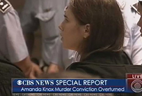 THE LACK OF DNA EVIDENCE OVERTURNED AMANDA KNOX'S CONVICTION.
