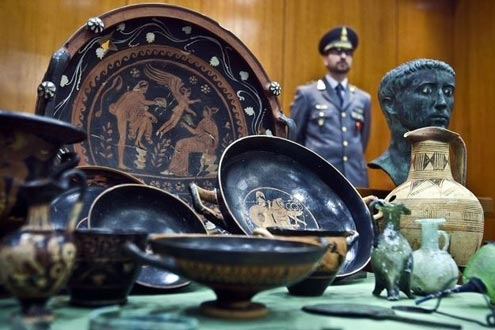 In 2009, Italy recovered items looted from tombs outside Naples and Venice.