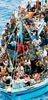 Close to a million illegal immigrants in Italy.