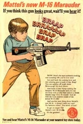 Guns have long been a centerpiece of American culture, boy toy guns or real ones.