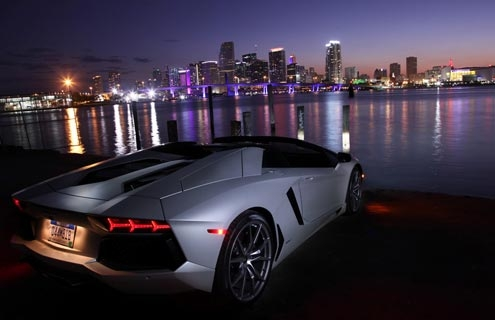 The Lamborghini Aventador LP 700-4 Roadster — base price $441,600.