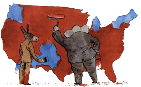 Gerrymandering can reinvent whole areas to suit purely political interests.