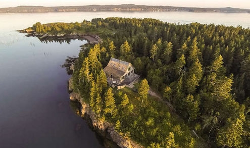 Maine has dozens of islands, some with remote homes.