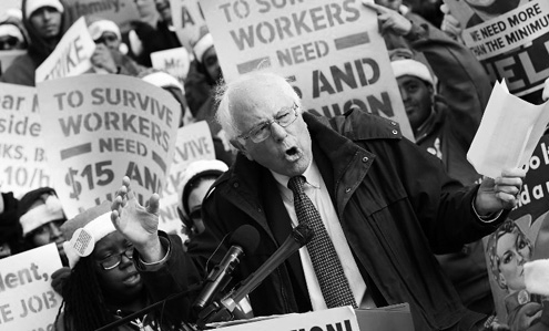 Vermont Sen. Bernie Sanders seeks major investment in infrastructure, and human capital.