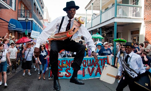 The annual French Quarter Festival is a showcase for Louisiana music.