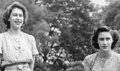 Princesses Elizabeth and Margaret in their 1940s youth: Big choices would loom soon.
