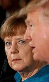 No love lost between Angela Merkel and Donald Trump.