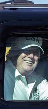 Trump: Jolly after winter golf, but still determined to cancel the Affordable Care Act.