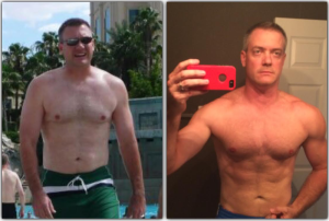 "- ""I lost 23lbs in the first 60 days and have more energy than I have ever had, while kicking my energy drink addiction. I made a few lifestyle changes and actually shortened my workouts and got better results. This is an amazing, life-changing program."" — Kirk G., 42, father of two"