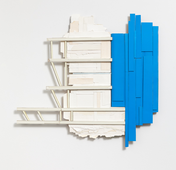 Fixed Departure  , 2011  found, unpainted cardboard & foamcore  24.5 x 26 x 1.5 inches