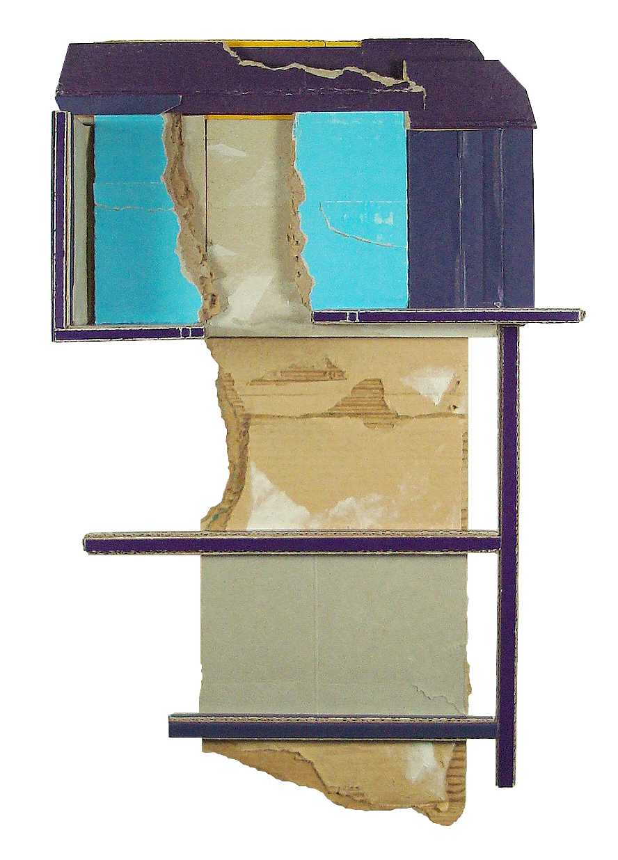 Fixture  , 2013  found, unpainted cardboard &foamcore  12.5L x 8W x 3.5D inches  Private Collection