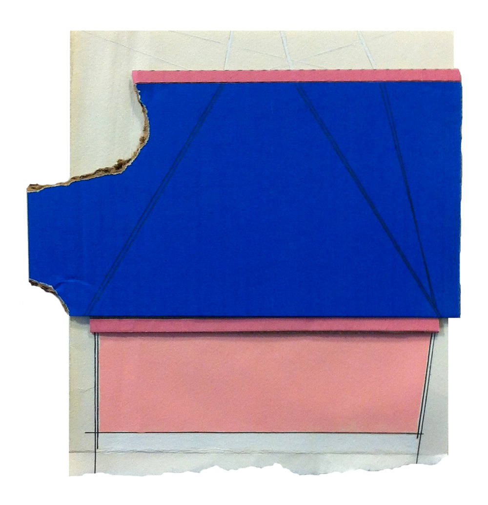 Hoist  , 2015  pencil, gouache, acrylic, collage on paper  9.5 x 9 inches