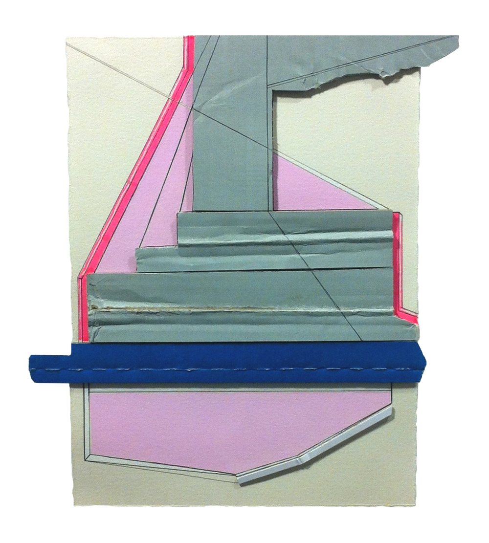 Guarantee  , 2015  gouache, marker, pencil, collage on paper  10 x 9 inches