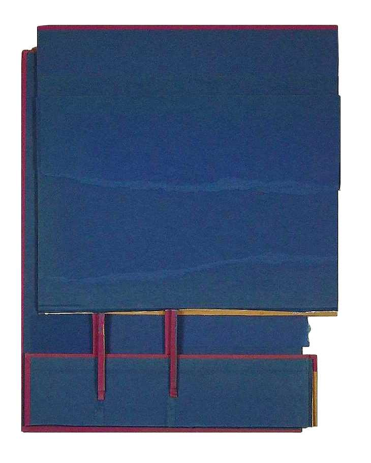 Holding Area  , 2010  cut book cover, foamcore  Private Collection