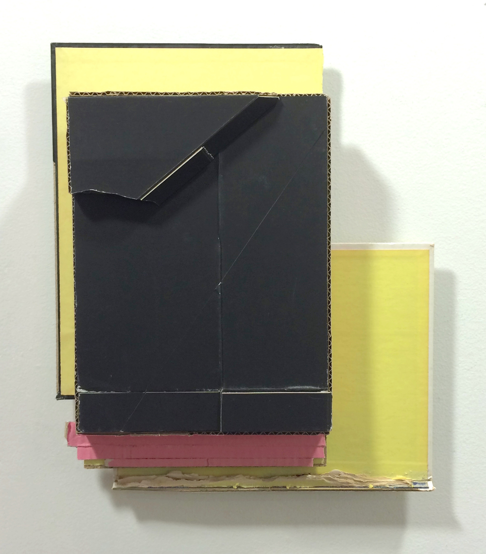 Corner Lot 2 ,  2015  found (unpainted) cardboard, cut book cover  14.25 x 12 x 2.75 inches