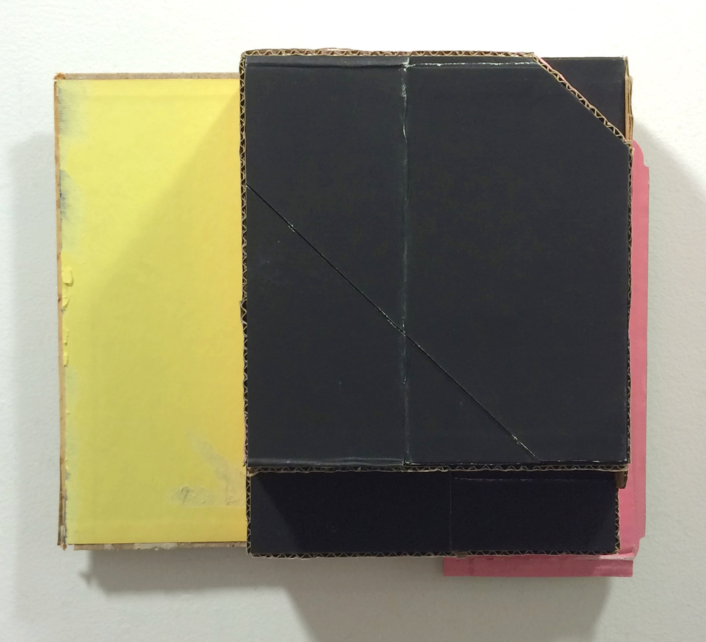 Corner Lot 3  , 2015  found (unpainted) cardboard, cut book cover  11 x 12.75 x 3.25 inches