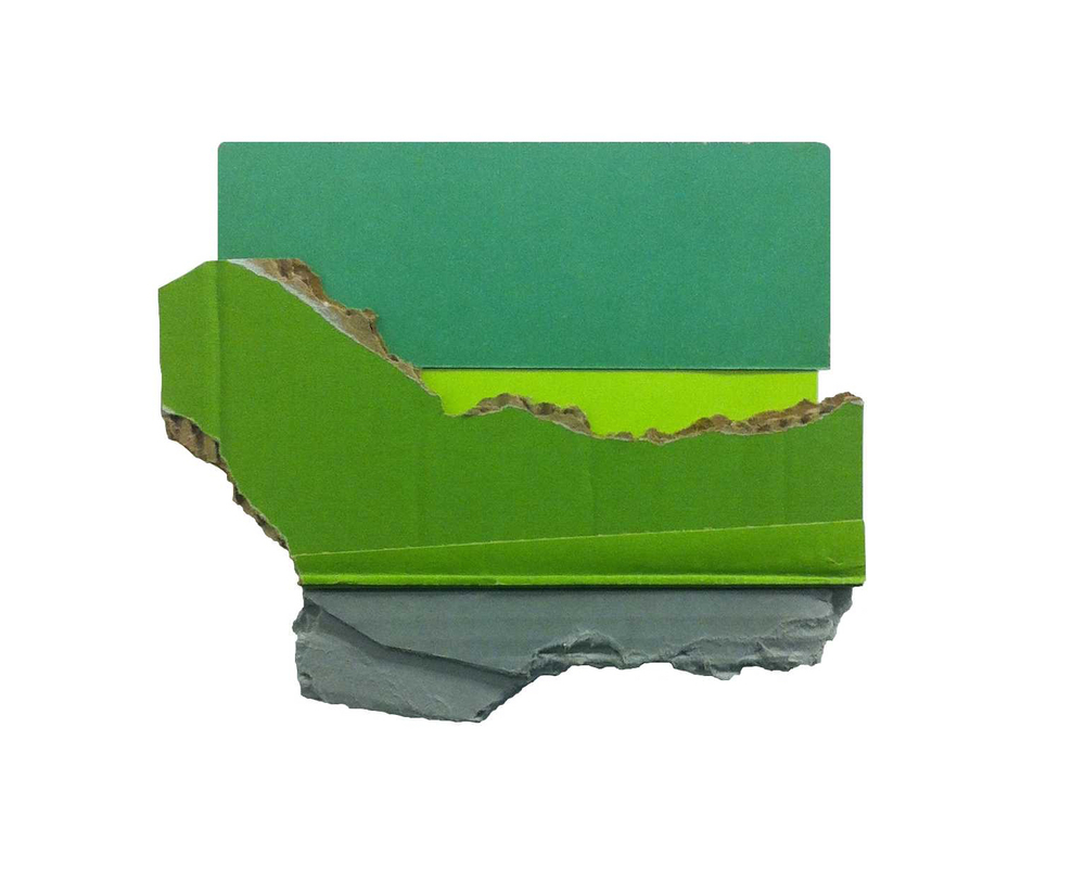 Track  , 2015  found (unpainted) cardboard, foamcore