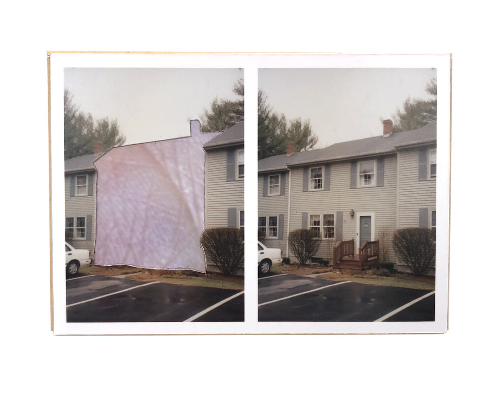 Split, Somersworth   ,  2015  hand-cut photo-collage (mounted on matte board, foamcore)  2 ¾ L x 3 ¾ W x ¾ D inches