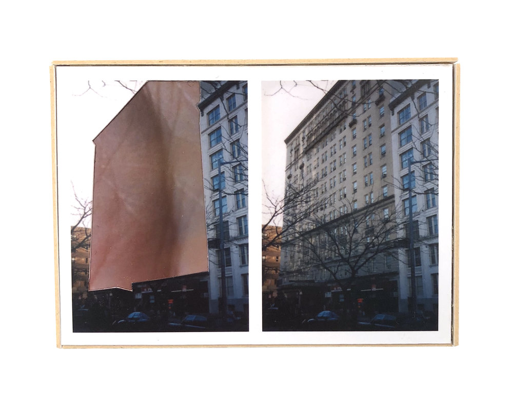 Split, Brooklyn Heights   ,  2015  hand-cut photo-collage (mounted on matte board, foamcore)  2 ¾ L x 3 ¾ W x ¾ D inches