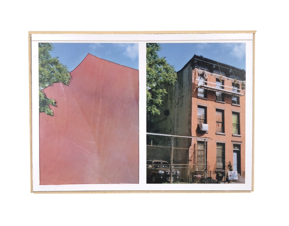 Split, Boerum Hill   ,  2015  hand-cut photo-collage (mounted on matte board, foamcore)  2 ¾ L x 3 ¾ W x ¾ D inches