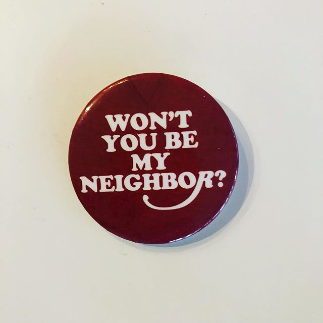 Do something new day 2660. Won't you be my neighbor? Asked dear Mr. Rogers in a song we all remember. Pam gave me this wonderful pin. Hope it will inspire us all to reach out to each other. #mrrogers #mrrogersneighborhood #wontyoubemyneighbor #compassion #kindness #bekind #bekindalways #gift #friend #friendship #pin #alwaysbekind #chronicillness #chronicpain #spoonie #spoonielife #invisibleillness #dosomethingnew #bonniepitmandosomethingnew #newexperience #bigorlittle #bigandlittle #simplelife #happyday #happymoment