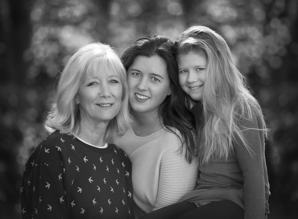 That's me in the middle... with my daughter, and my Mum.