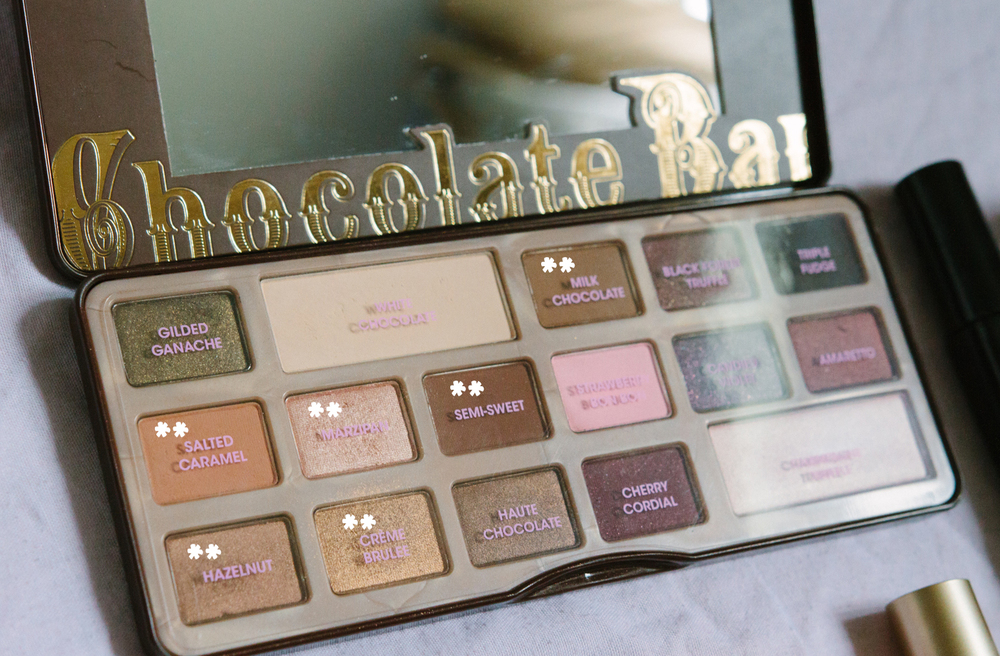 MOST USED SHADES: Salted Caramel, Hazelnut, Marzipan, Creme Bruleé, Semi-Sweet, Milk Chocolate