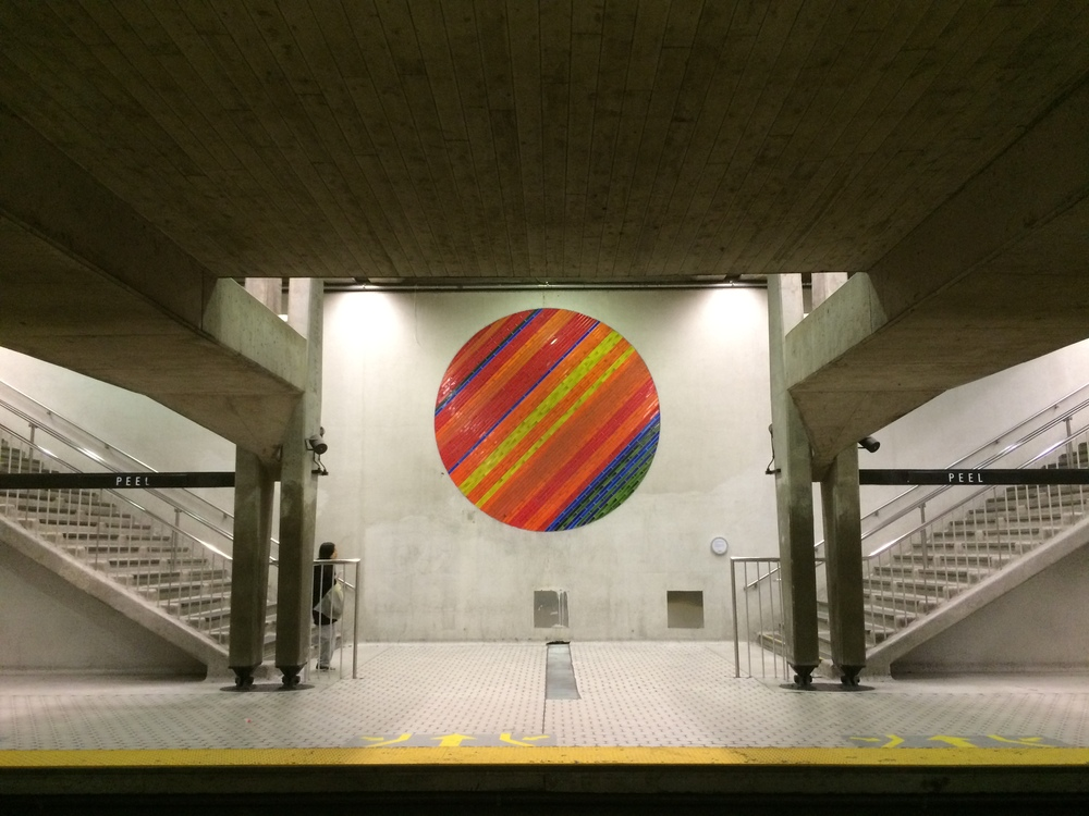 I don't know which station this is. I love how each metro stop has its own theme. #Art