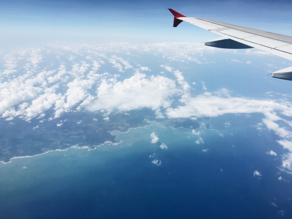 Flying over Panama