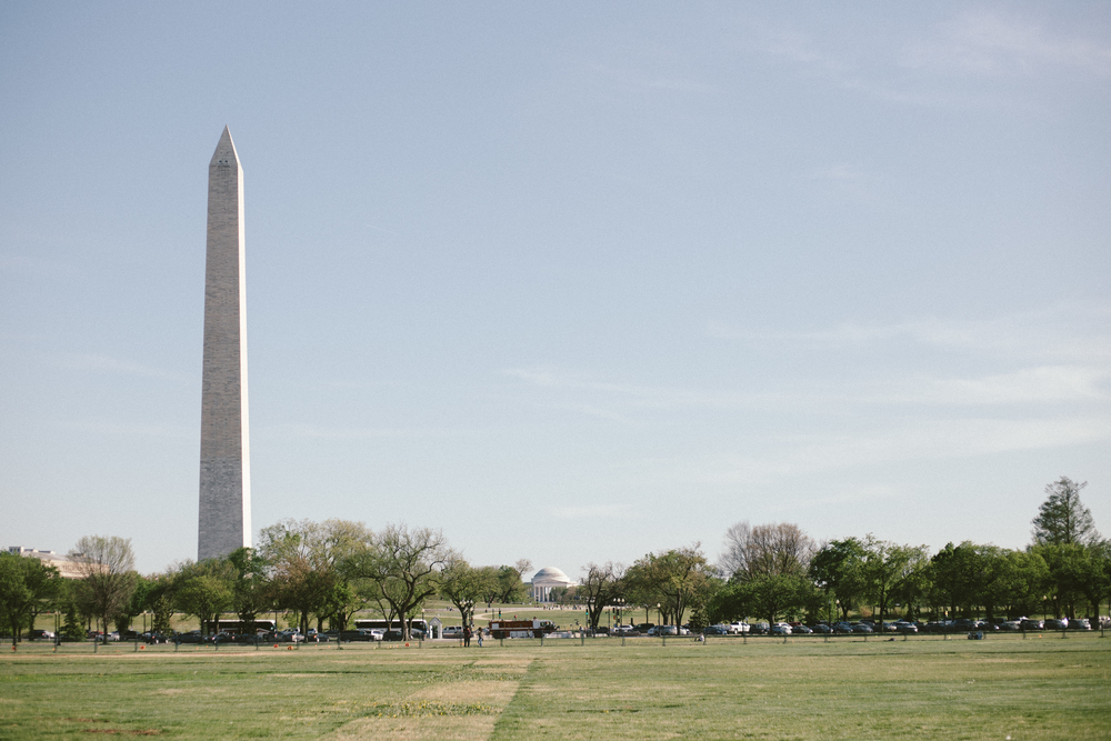 The Washington Monument and Jefferson Memorial