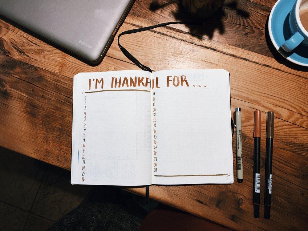 Bullet Journal Gratitude Page