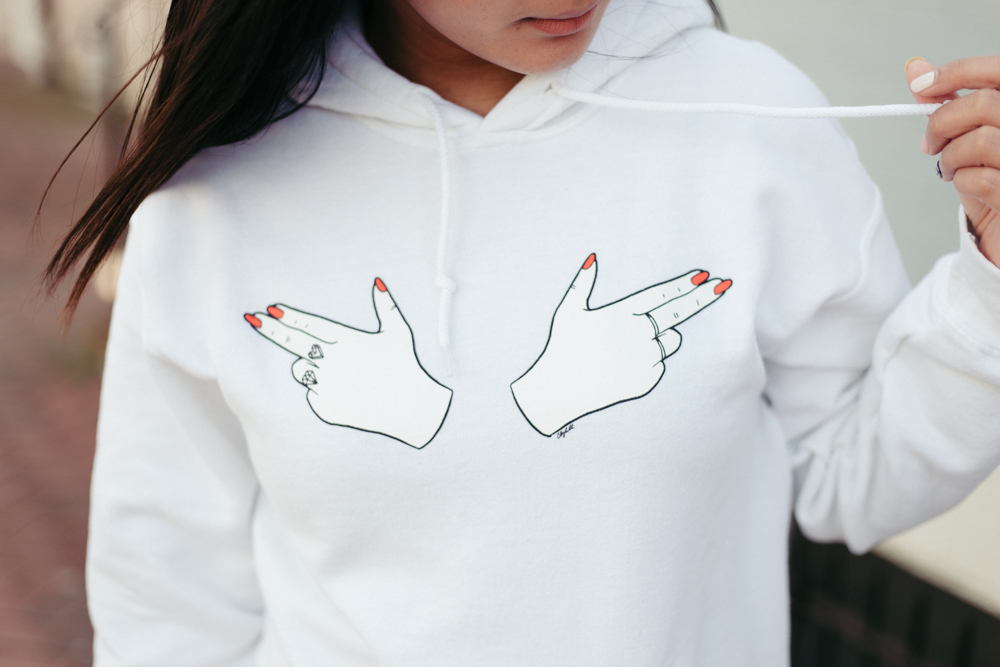 Heyclaire Finger Guns Hoodie