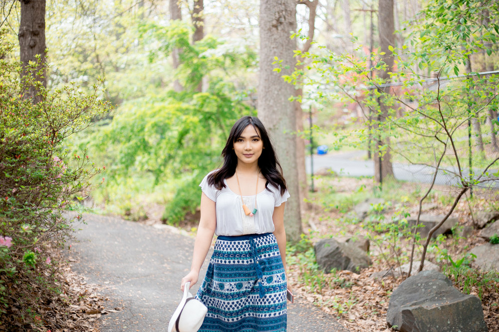 THRIFT STORE DIARIES - ft. Blue Boho Maxi Skirt