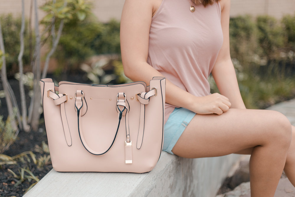 MY FIRST BLUSH PINK BAG - ft. Evan Satchel from JustFab