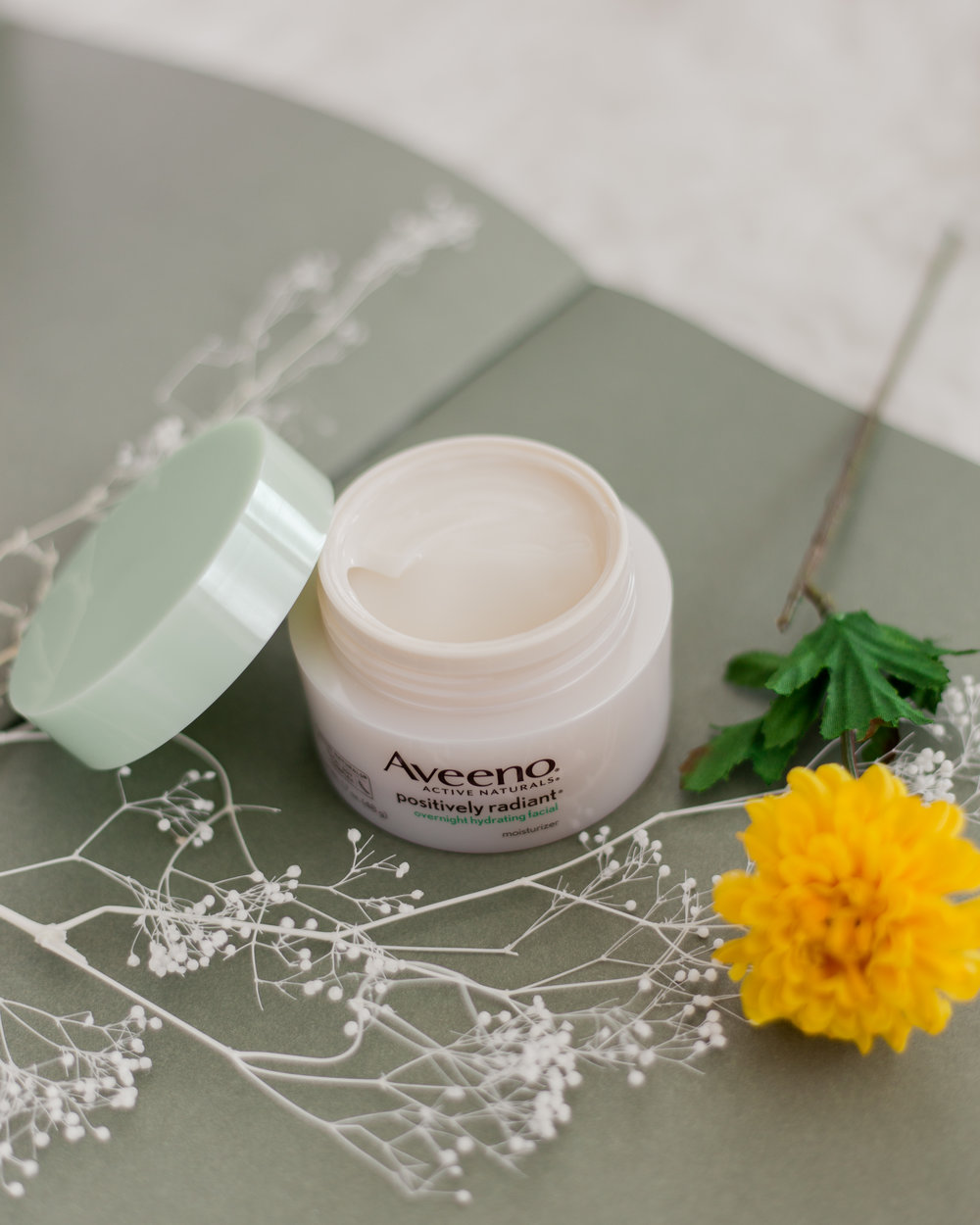 Aveeno® Active Naturals Positively Radiant Overnight Hydrating Facial Moisturizer