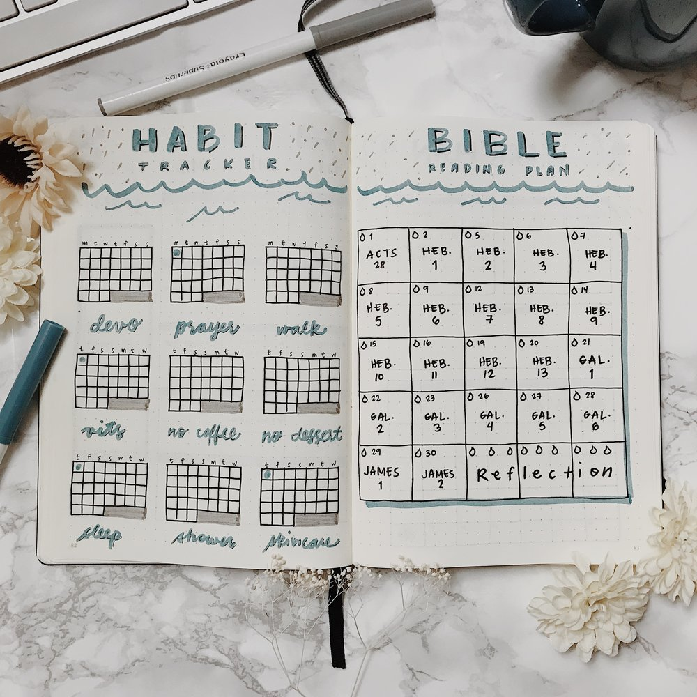 March Plan With Me - Habit & Bible Trackers