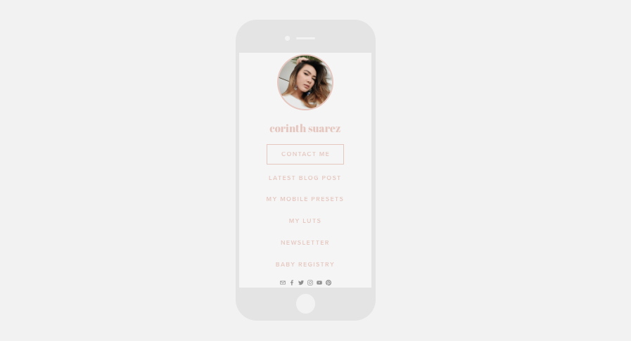 Custom Instagram Bio Link using Squarespace